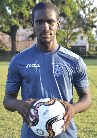 Photo: Naparima's midfielder Shane Sandy. (Courtesy: Allan Powder/Wired868)