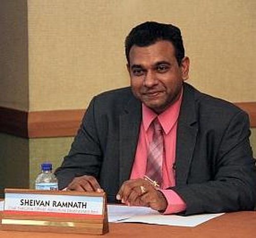 Photo: Agricultural Development Bank (ADB) CEO Sheivan Ramnath.