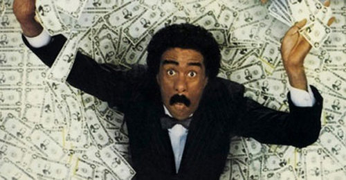 Photo: My money. Ha ha. (Courtesy Brewster's Millions)
