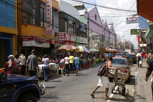 Photo: The bustling Charlotte Street in downtown Port of Spain. (Courtesy Flickr)