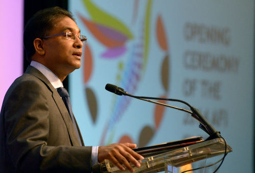 Photo: Central Bank governor Jwala Rambarran. (Courtesy Afi-global.org)