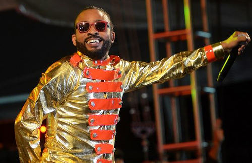 Photo: Leh we dance outta de recession like a boss! Soca star Machel Montano performs at the 2015 International Soca Monarch. (Copyright Socanews.com)