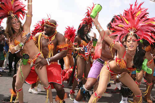 Photo: Revellers enjoy themselves on the road during Carnival 2015. (Copyright Loop TT)