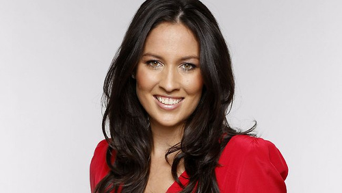 Photo: Australian television sport presenter Mel McLaughlin.