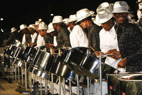 Photo: Exodus Steelband, who tied with Invaders for fourth place in this year's Panorama. (Copyright TDC via Discovertnt.com)