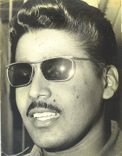 Photo: A 25-year-old Raffique Shah during the 1971 mutiny trials. Shah, a former lieutenant, led 300 troops in a mutiny at Teteron Barracks during the Trinidad and Tobago Rvolution of 1970.