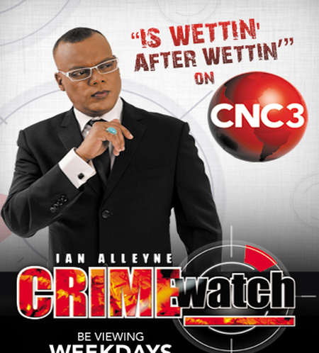 Photo: CNC3 wet itself while trying to defend Crime Watch host Ian Alleyne. It was alleged.