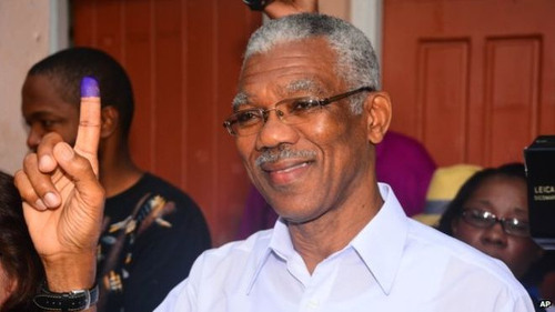 Photo: Current Guyana prime minister David Granger. (Copyright AP)