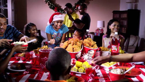 Photo: KFC advertises a family meal. (Courtesy YouTube)