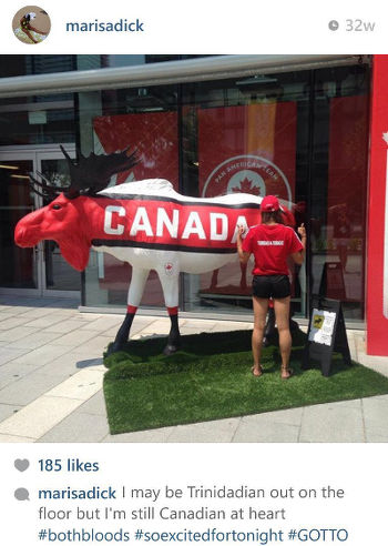 Photo: An old Instagram post by Trinidad and Tobago gymnast Marisa Dick. (Courtesy Melissa Grant)