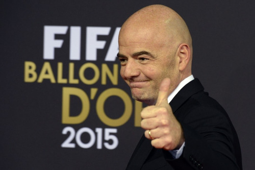 Photo: UEFA general secretary and FIFA presidential candidate Gianni Infantino. (Courtesy TTFA Media)