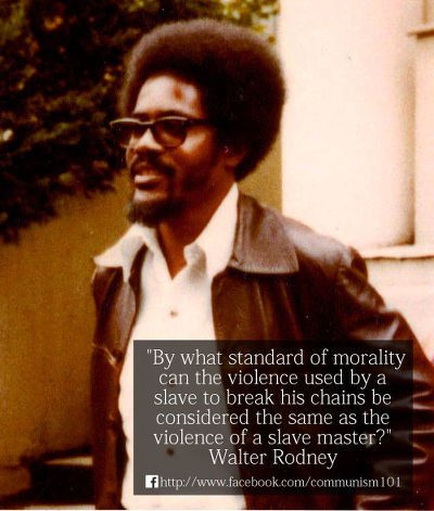 Photo: Late Guyana intellectual Walter Rodney.