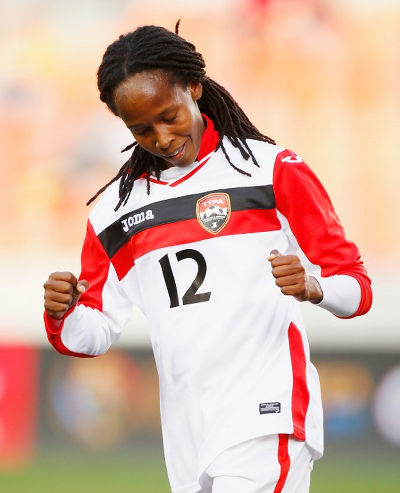 Photo: Trinidad and Tobago winger Ahkeela Mollon. (Copyright AFP 2016/Scott Halleran)
