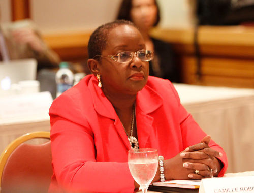 Photo: Planning Minister Camille Robinson-Regis.