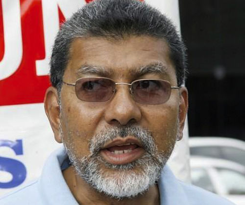 Photo: MSJ political leader David Abdulah said the TTGF Disciplinary Committee was advised to move the matter involving topless photos of Thema Williams and Marisa Dick to its council. (Courtesy Eternal Pantomime)