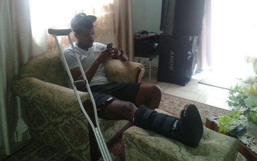 Photo: W Connection striker Dwight Quintero tries to relax at his home in Blanchisseuse. (Courtesy Nathalie Fournillier-Reyes)