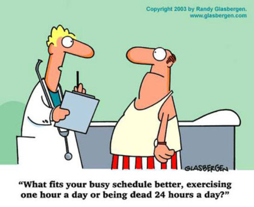 Photo: Maybe we should exercise more. (Courtesy Healthy Living, Healthy Lifting)