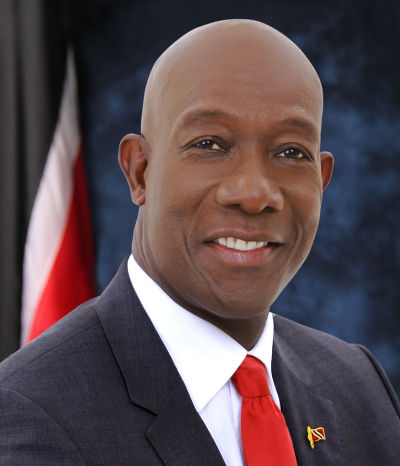 Photo: Prime Minister Dr Keith Rowley. (Copyright News.Gov.TT)