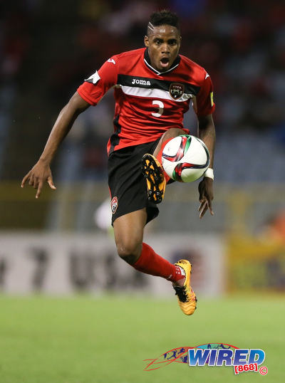 Photo: Trinidad and Tobago winger Joevin Jones controls the ball during Russia 2018 World Cup qualifying action at the Hasely Crawford Stadium, Port of Spain on 29 March 2016. Trinidad and Tobago won 6-0. (Courtesy: Allan V Crane/CA-images/Wired868)