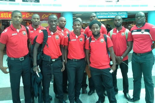 Photo: Futsal Association president Geoffrey Edwards (far right) poses with the National Futsal Team on 16 January 2016, before their departure for the Caribbean Championship. (Courtesy Geoffrey Edwards)