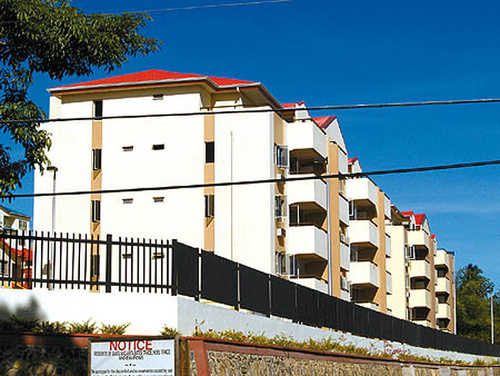 Photo: The Fidelis Heights HDC compound. (Copyright Trinidad Guardian)