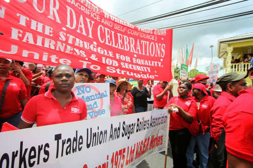Photo: An All Trinidad General Trade Workers Union protest. (Courtesy ATGTWU)