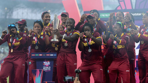 Photo: The West Indies cricket women celebrate their 2016 World Twenty20 title after a historic win over Australia. (Copryight SkySports)