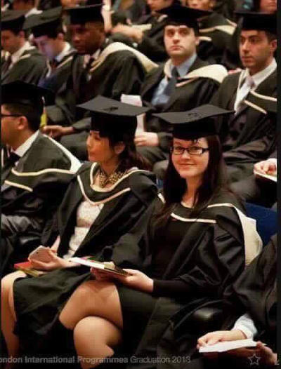 Photo: A University of London graduation ceremony in 2013. But where is Victrina Cuffie? Look on the bottom right hand side of the top photograph another time.