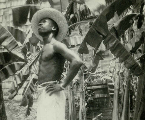 Photo: A sugar cane worker contemplates during post-colonial Trinidad and Tobago. (Courtesy Talking Humanities)