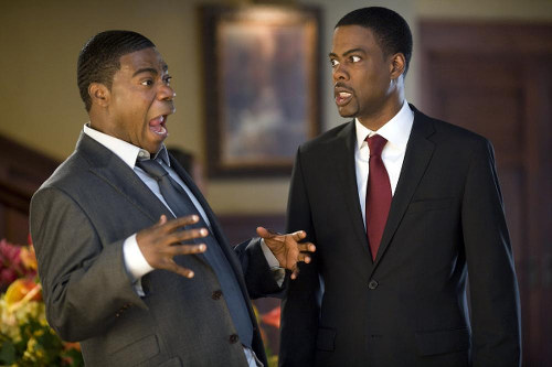 Photo: Comedians Tracy Morgan (left) and Chris Rock star in Screen Gems' comedy Death At A Funeral.