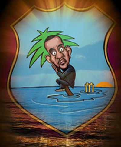 Photo: Caricature of West Indies Cricket Board (WICB) president Dave Cameron.