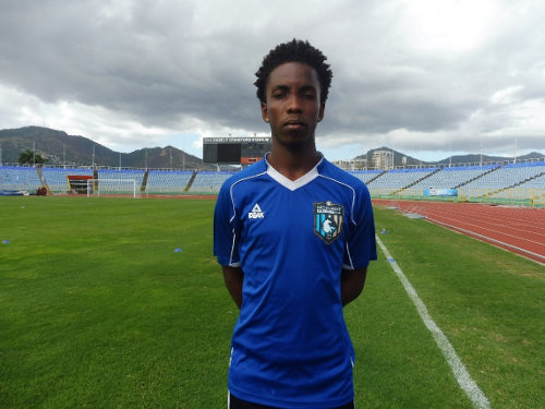 Photo: Morvant Caledonia United attacker Kareem Knights. (Courtesy: Dominique Fernandes/Wired868)