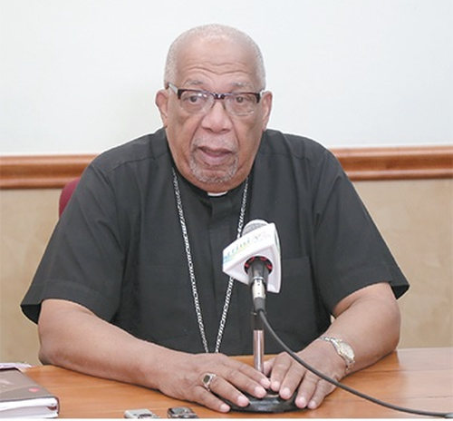 Photo: Archbishop Joseph Harris. (Courtesy Stabroek News)