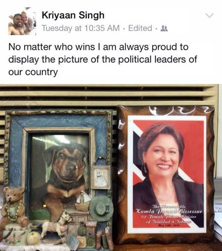 Photo: Another social media post by newly Independent Senator Dr Kriyaan Singh.
