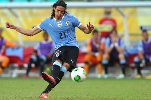 Photo: Uruguay striker Edinson Caveni. (Courtesy Fox Sports)