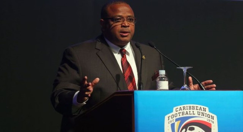 Photo: Caribbean Football Union (CFU) president Gordon Derrick.