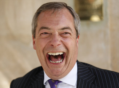 Photo: UKIP political leader and prominent Leave campaigner Nigel Farage.