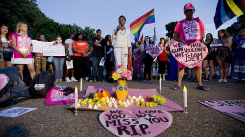 Photo: A tribute to the victims of the Orlando mass shooting. (Copyright Key103.co.uk)
