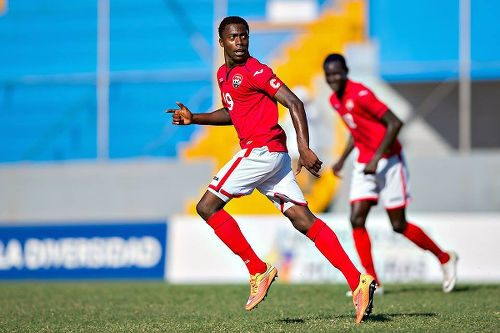 Photo: Former Trinidad and Tobago National Under-17 Team captain Noah Powder (left) is expected to help shore up the defence of the Under-20 squad. (Courtesy CONCACAF)