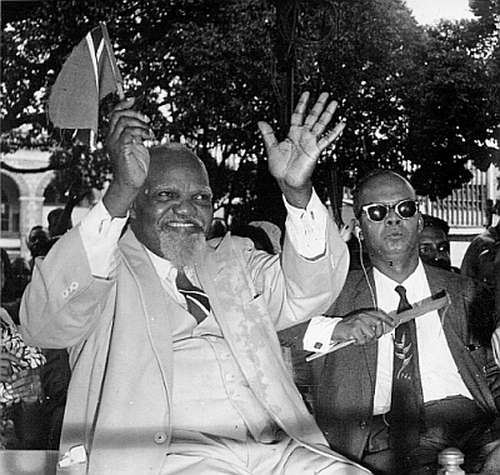 "Photo: Iconic Trinidad labour leader Tubal Uriah ""Buzz"" Butler (left) and Trinidad and Tobago's first Prime Minister Dr Eric Williams. (Copyright Trinidad Guardian)"