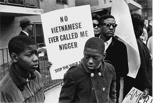 Photo: An anti-Vietnam war protest in the United States.