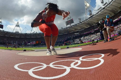 Photo: Trinidad and Tobago's Cleopatra Borel competes in the women's shot put event of the London Olympic Games on 6 August 2012. (Copyright Franck Fife/AFP 2016/Wired868)
