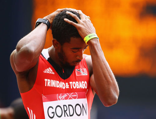 Photo: Trinidad and Tobago Jehue Gordon reacts during the 2014 Commonwealth Games. (Copyright Zimbio)