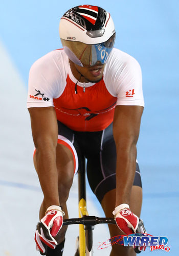 Photo: Trinidad and Tobago cyclist Njisane Phillip cruises during the Toronto 2015 Pan American Games. (Courtesy Allan V Crane/CA Images/Wired868)
