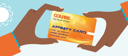Photo: The COLFIRE affinity card. (Courtesy COLFIRE)