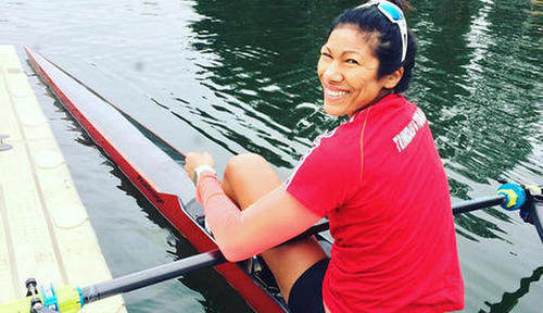 Photo: You row girl! Trinidad and Tobago's Felice Chow. (Courtesy TTOC)