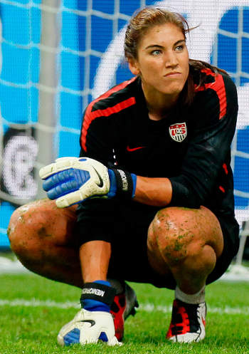 Photo: United States goalkeeper Hope Solo. (Copyright Kevin C Cox/Getty/FIFA)