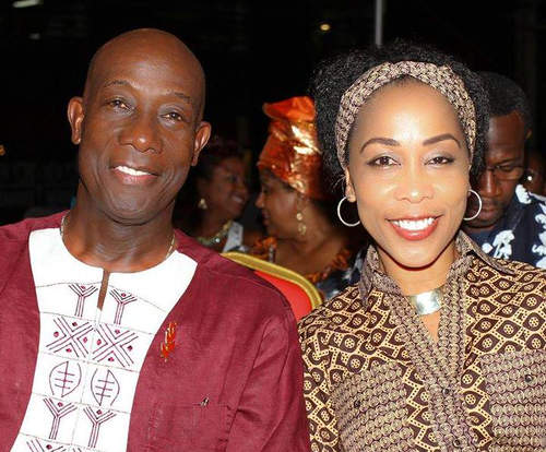 Photo: Trinidad and Tobago Prime Minister Dr Keith Rowley (left) and his wife Sharon Rowley during 2015 Emancipation Day celebrations.