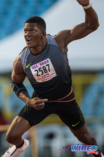 Photo: Keshorn Walcott throws during the 2015 NAAA National Championships. (Courtesy Allan V Crane/CAI Images/Wired868)