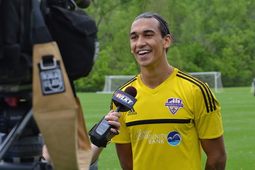 Photo: Louisville City FC goalkeeper Greg Ranjitsingh.